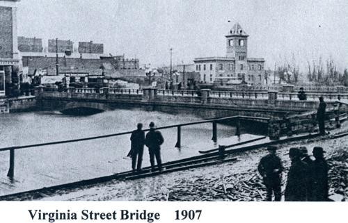 Virginia St. Bridge 1907 flood