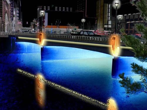 downtown reno bridge lighting project