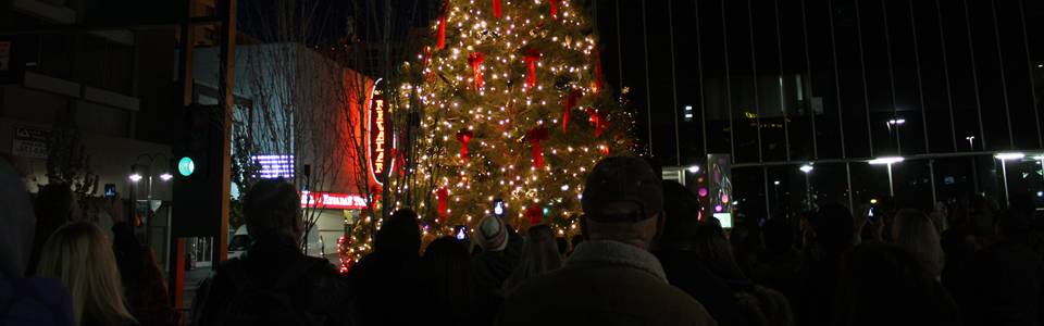 Downtown Reno tree lighting