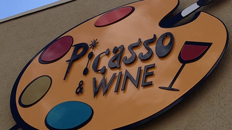 Picasso and Wine