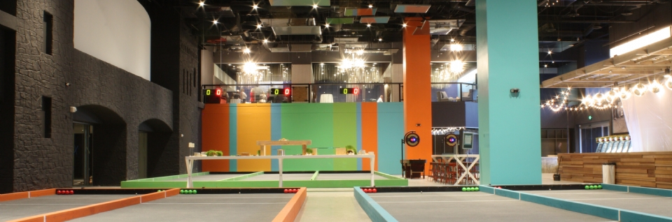 Photo Tour of the indoor bocce court area of the future ...